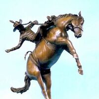Legends of Rodeo - Marty Wood, Let the Good Times Roll by Edd Hayes - search and link Sculpture with SculptSite.com