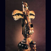 Contemporary Totem by Larry Lefner - search and link Sculpture with SculptSite.com