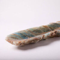 Blue onyx bowl, smaller one by Robin Antar - search and link Sculpture with SculptSite.com