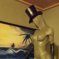 woman with a hat by Edward Kitt - search and link Sculpture with SculptSite.com