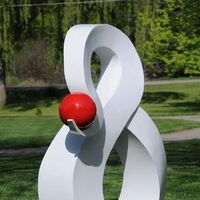 ...and one red dot. by Greg Londrigan - search and link Sculpture with SculptSite.com