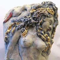 """Leda and the Swan"" by Judith Unger - search and link Sculpture with SculptSite.com"
