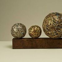 4 Spheres by Leslie Pontz - search and link Sculpture with SculptSite.com