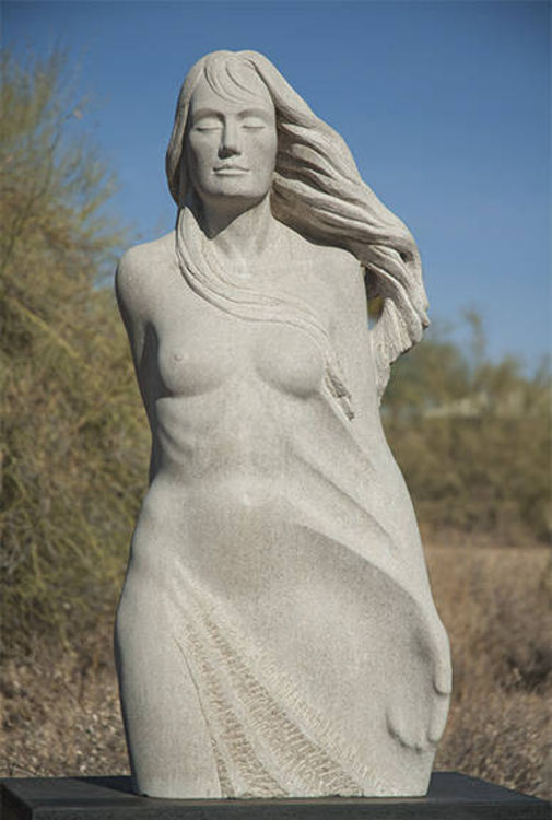 Untitled Limestone Figure by Mark Carroll - search and link Sculpture with SculptSite.com