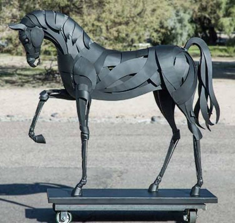 Black Stallion 2 by Mark Carroll - search and link Sculpture with SculptSite.com