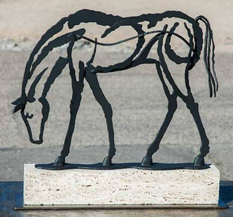 Grazing, Steel Drawing by Mark Carroll - search and link Sculpture with SculptSite.com