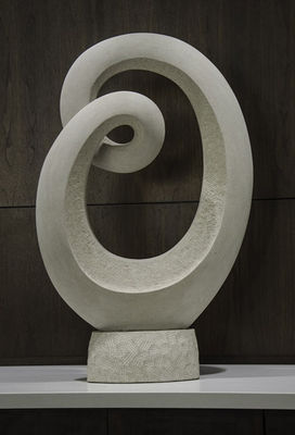 Inverted Mobius Limestone by Mark Carroll - search and link Sculpture with SculptSite.com