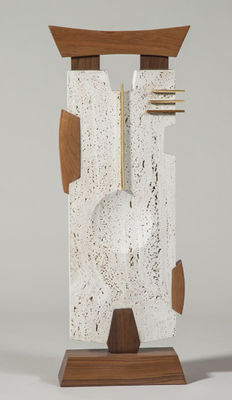 Travertine Composition by Mark Carroll - search and link Sculpture with SculptSite.com