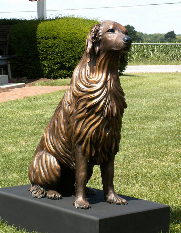 Bo - Golden Retriever Dog by Anita Watts - search and link Sculpture with SculptSite.com