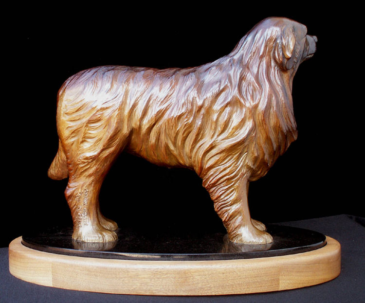 Leonberger - CZAR by Anita Watts - search and link Sculpture with SculptSite.com