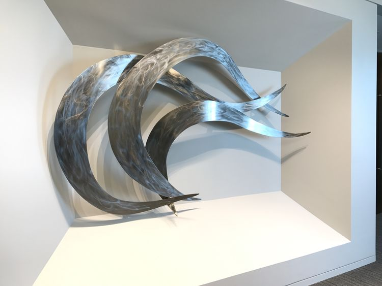 The Wave by Bruce A Niemi - search and link Sculpture with SculptSite.com