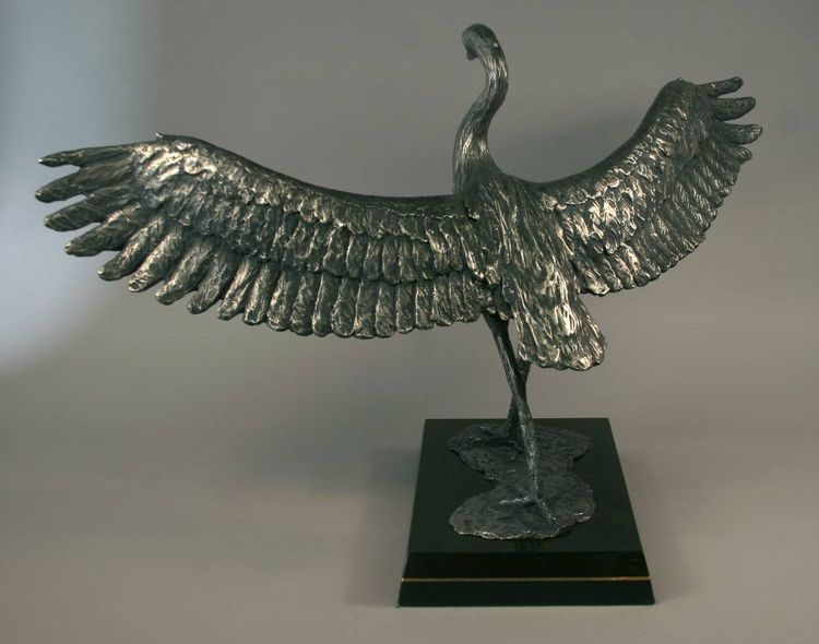 Wildlife Heron Hank by Edd Hayes - search and link Sculpture with SculptSite.com