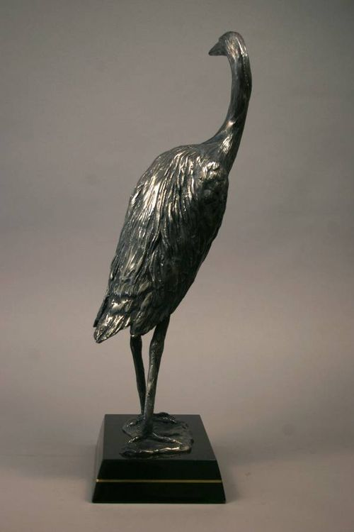 Wildlife Heron Hoot by Edd Hayes - search and link Sculpture with SculptSite.com