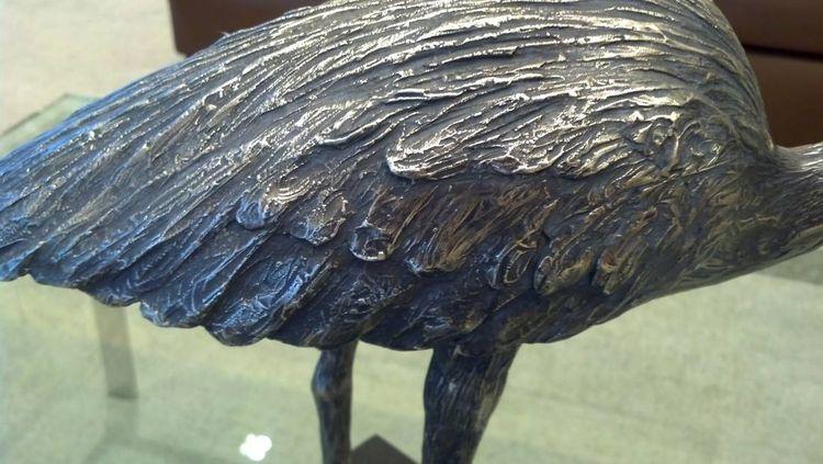 Wildlife Heron Henrietta by Edd Hayes - search and link Sculpture with SculptSite.com