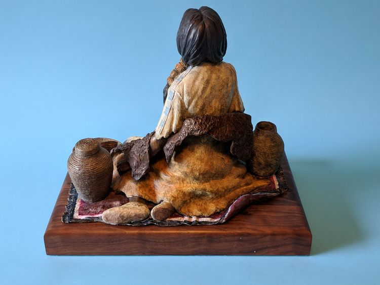 Western - The Basket Maker by Edd Hayes - search and link Sculpture with SculptSite.com