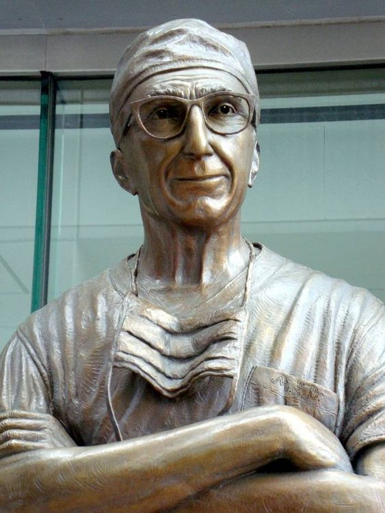Monuments - Michael E. DeBakey M.D. by Edd Hayes - search and link Sculpture with SculptSite.com