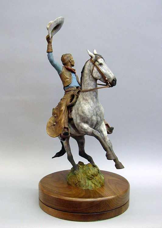 Western - The Signal by Edd Hayes - search and link Sculpture with SculptSite.com