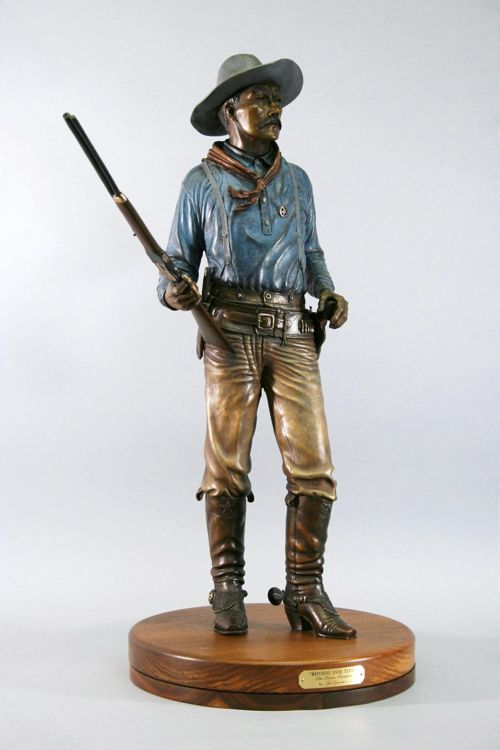 Texas Ranger - Watcing Over Texas by Edd Hayes - search and link Sculpture with SculptSite.com