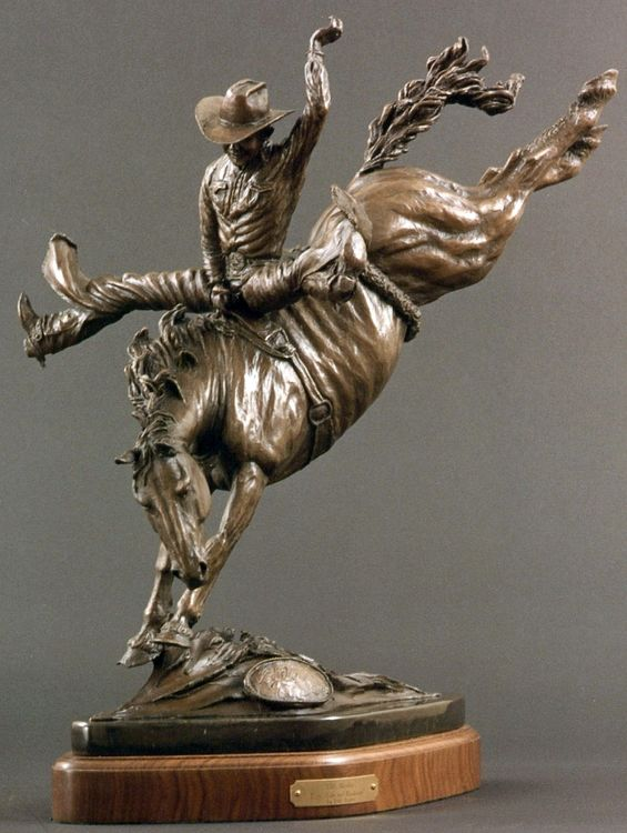 Legends of Rodeo - Eddy Akridge, High Wide and Handsome by Edd Hayes - search and link Sculpture with SculptSite.com