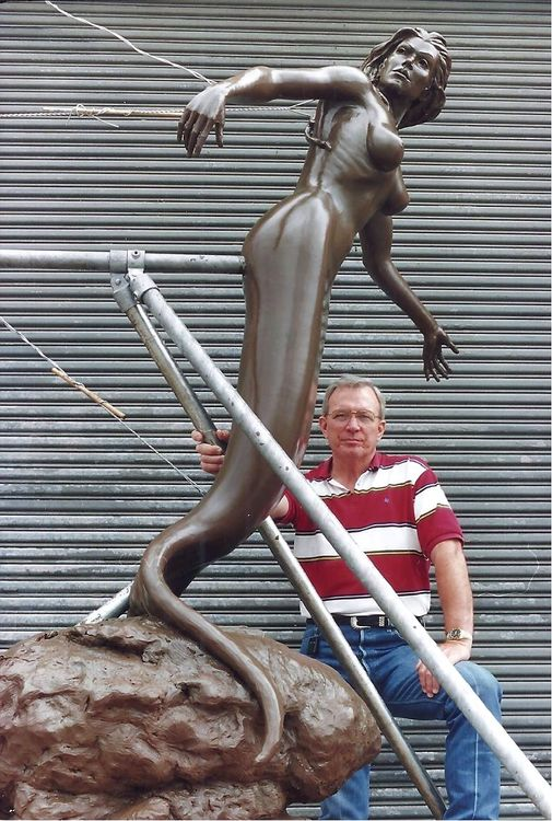 Mermaids - Vision in the Mist (Monumental size) by Edd Hayes - search and link Sculpture with SculptSite.com