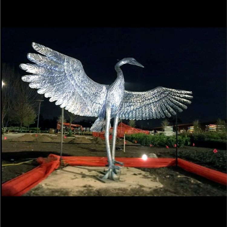 Monuments - Heron Spring by Edd Hayes - search and link Sculpture with SculptSite.com