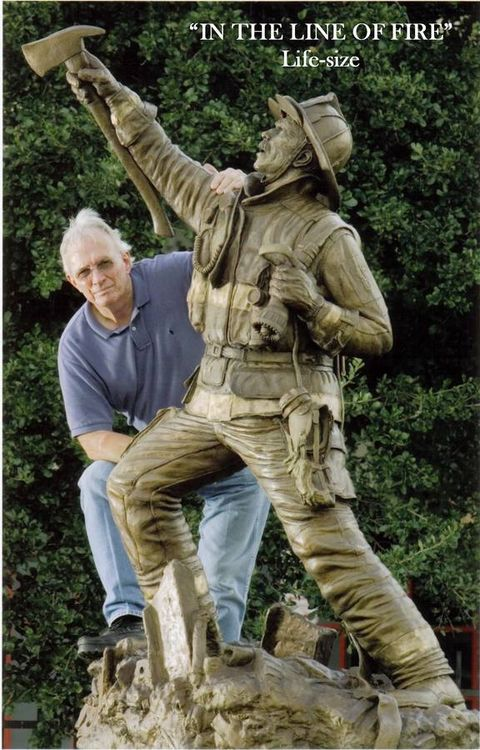 Monuments - In the Line of Fire by Edd Hayes - search and link Sculpture with SculptSite.com