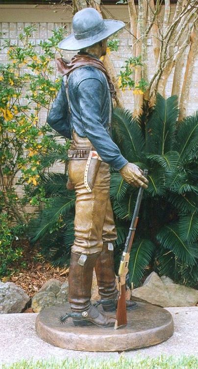 Monuments - Watching Over Texas, The Texas Rangers by Edd Hayes - search and link Sculpture with SculptSite.com