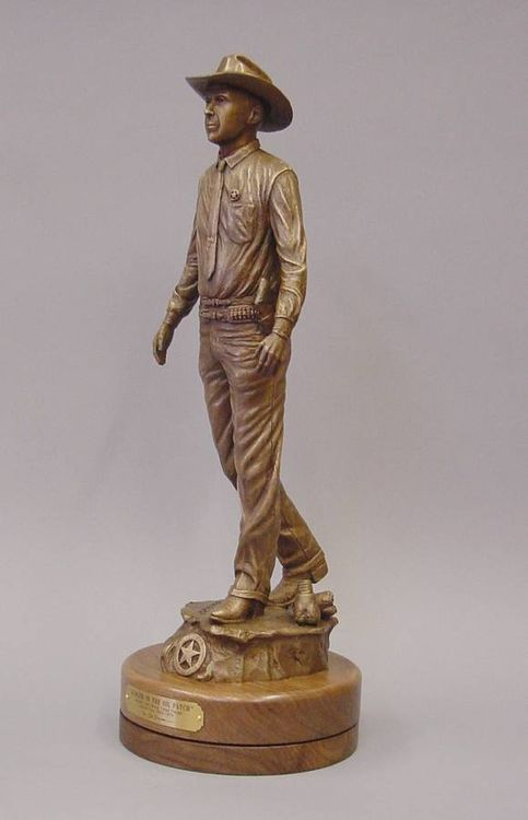 Texas Rangers Legends, Capt. John Wood by Edd Hayes - search and link Sculpture with SculptSite.com