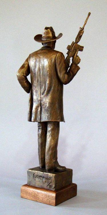 Texas Rangers legends, Capt. Clete Buckaloo by Edd Hayes - search and link Sculpture with SculptSite.com