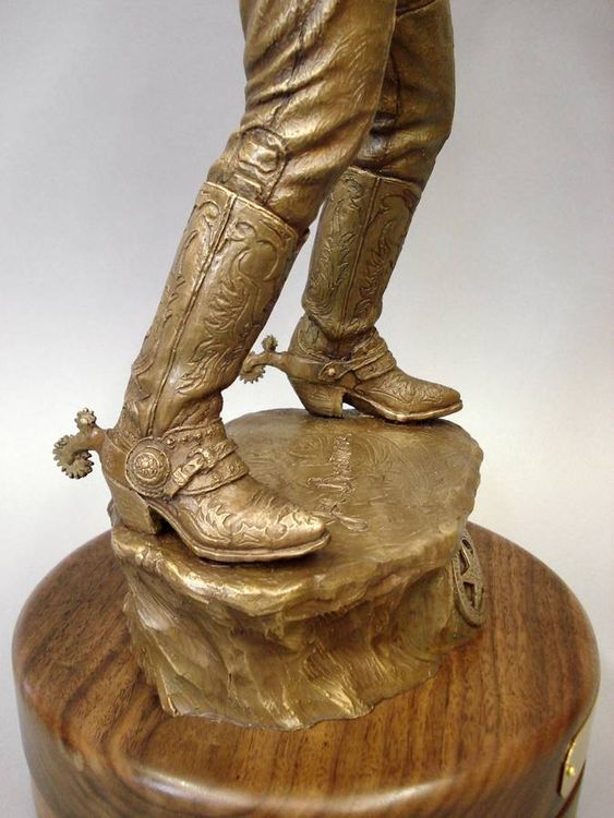 Western - Joe Bowman, The Straight Shooter by Edd Hayes - search and link Sculpture with SculptSite.com