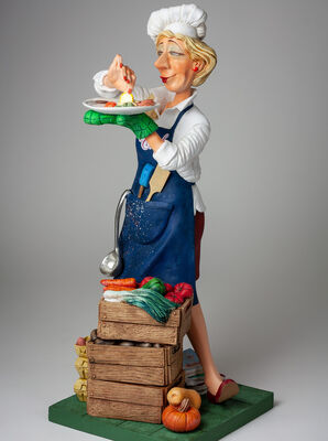 Lady Cook by Guillermo Forchino - search and link Sculpture with SculptSite.com