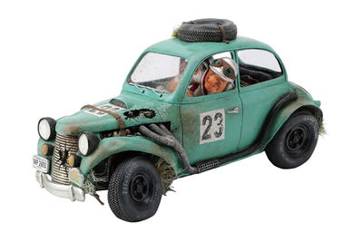 Rally Race Car Sculpture by Guillermo Forchino - search and link Sculpture with SculptSite.com