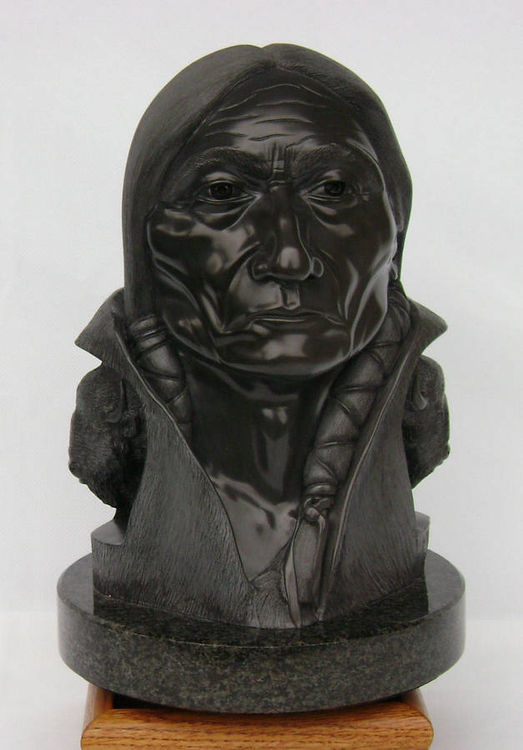 """""""Buffalo Creation"""" (Chief Sitting Bull) by Gerald Sandau - search and link Sculpture with SculptSite.com"""