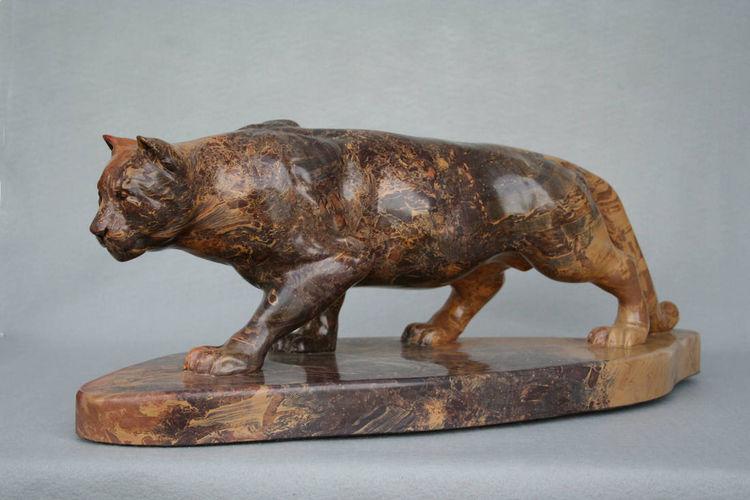 """Stealth"" (Mountain Lion) by Gerald Sandau - search and link Sculpture with SculptSite.com"