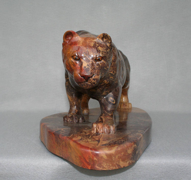 """Stealth"" (Mountain Lion) by Gerald Sandau - search and link Sculpture with SculptSite.com"