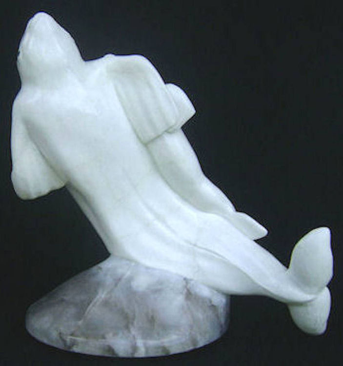 Free Ride (Baluga Whale and Calf) by Gerald Sandau - search and link Sculpture with SculptSite.com