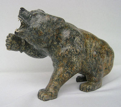 Aggression(Grizzly Bear) by Gerald Sandau - search and link Sculpture with SculptSite.com