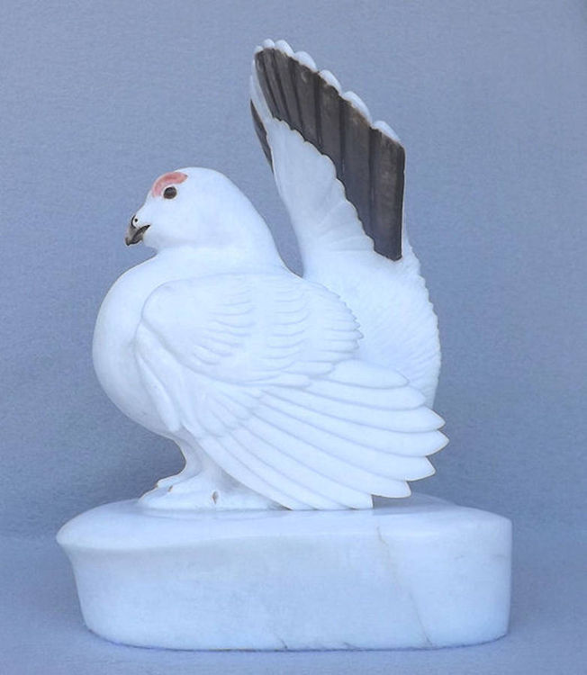 Willow Grouse by Gerald Sandau - search and link Sculpture with SculptSite.com