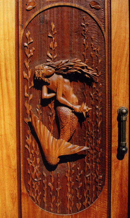Mermaid Door by Larry Lefner - search and link Sculpture with SculptSite.com