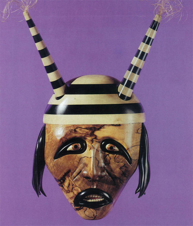 Kachina Clown Mask by Larry Lefner - search and link Sculpture with SculptSite.com