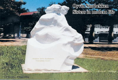 Sisters in modern life by Oyvin Storbaekken - search and link Sculpture with SculptSite.com