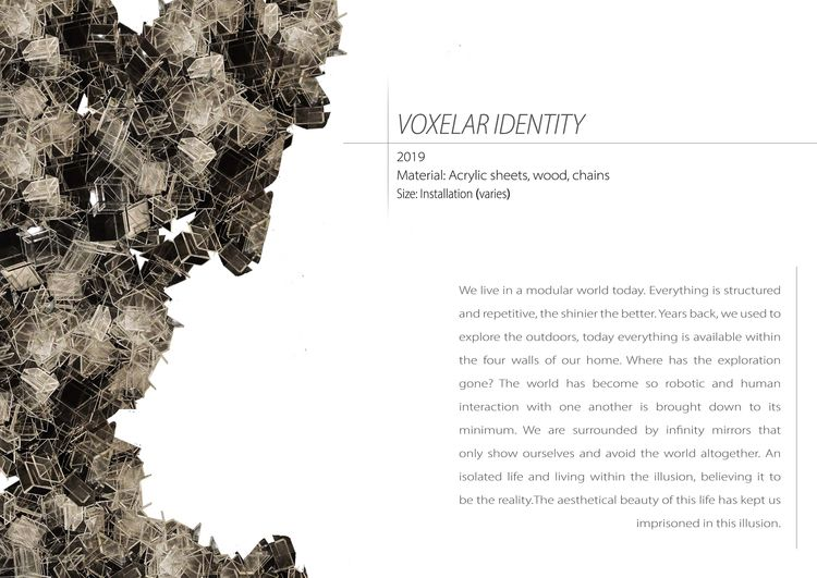 Voxelar Identity by Priyanka Muthuraman - search and link Sculpture with SculptSite.com