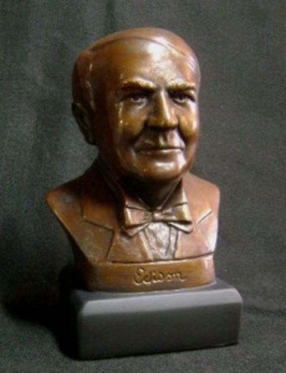 Thomas Edison by Robert Toth - search and link Sculpture with SculptSite.com