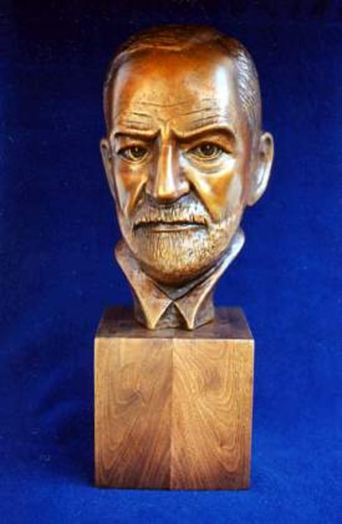 Sigmund Freud by Robert Toth - search and link Sculpture with SculptSite.com