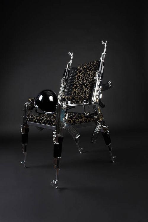 AK47 Design Chair by Weber Rainer - search and link Sculpture with SculptSite.com