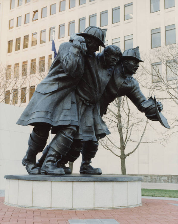 New York State Fallen FirefightersMemorial by Robert Eccleston - search and link Sculpture with SculptSite.com