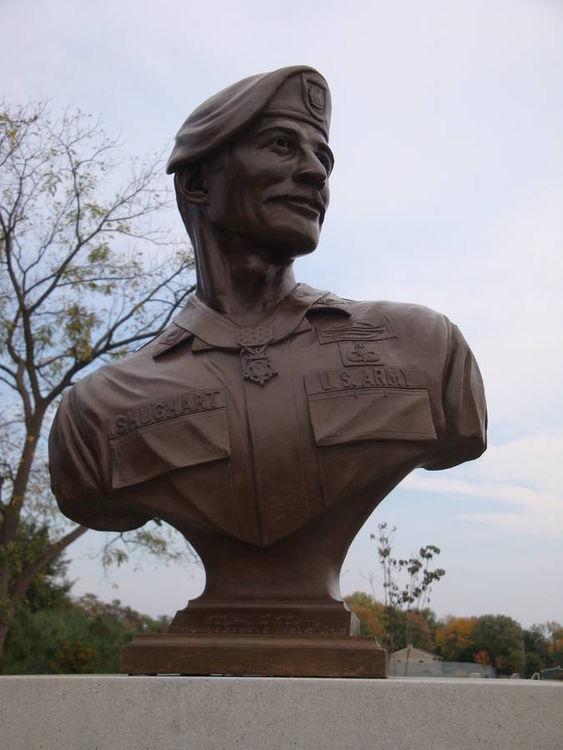 SFC Randall Shughart Memorial Bust by Robert Eccleston - search and link Sculpture with SculptSite.com