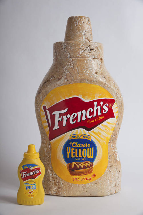French\'s Mustard by Robin Antar - search and link Sculpture with SculptSite.com