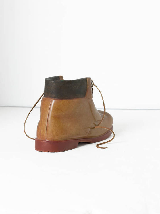 work boot with rivets by Robin Antar - search and link Sculpture with SculptSite.com