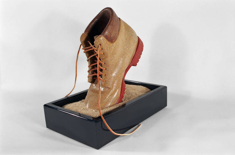 Boot in Motion by Robin Antar - search and link Sculpture with SculptSite.com